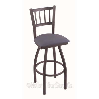 Contessa 36 Swivel Bar Stool Finish: Pewter, Upholstery: Rein Bay