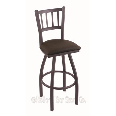 Contessa 36 Swivel Bar Stool Finish: Pewter, Upholstery: Rein Coffee