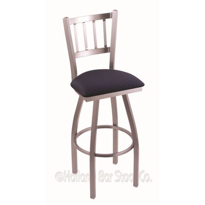 Contessa 30 Swivel Bar Stool Finish: Stainless, Upholstery: Axis Denim