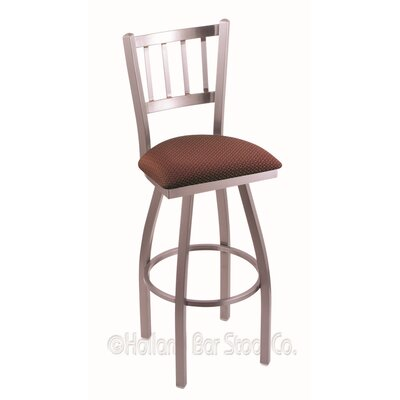 Contessa 25 Swivel Bar Stool Finish: Stainless, Upholstery: Axis Paprika