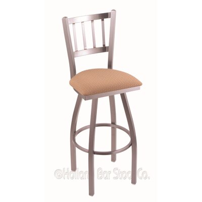 Contessa 30 Swivel Bar Stool Finish: Stainless, Upholstery: Axis Summer