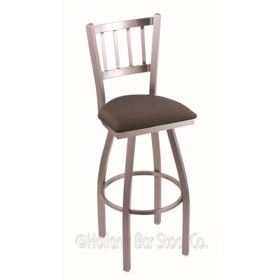 Contessa 30 Swivel Bar Stool Finish: Stainless, Upholstery: Axis Truffle