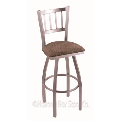 Contessa 30 Swivel Bar Stool Finish: Stainless, Upholstery: Axis Willow