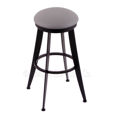 Laser 25 inch Swivel Bar Stool Upholstery: Allante Medium Grey