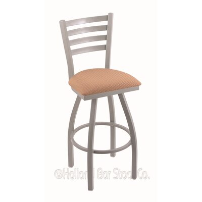 Jackie 30 Swivel Bar Stool Finish: Anodized Nickel, Upholstery: Axis Summer