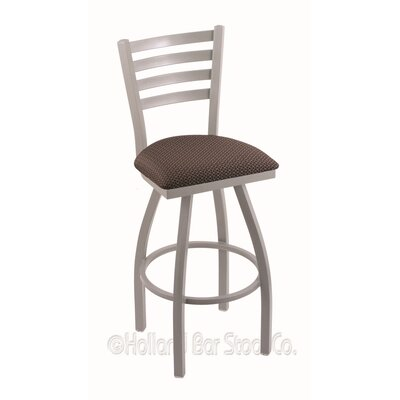 Jackie 36 Swivel Bar Stool Finish: Anodized Nickel, Upholstery: Axis Truffle