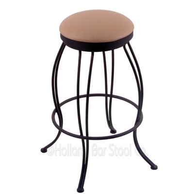Georgian 30 Swivel Bar Stool Upholstery: Allante Beechwood