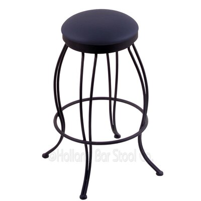 Georgian 25 Swivel Bar Stool Upholstery: Allante Dark Blue