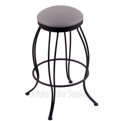 Georgian 25 inch Swivel Bar Stool Upholstery: Allante Medium Grey