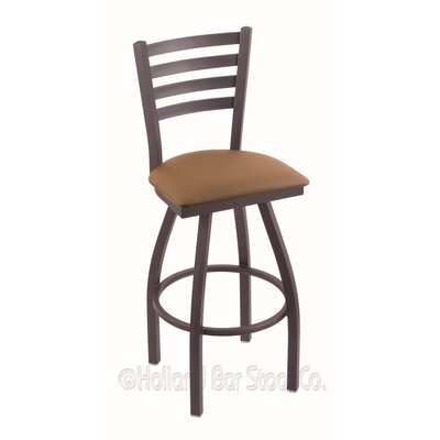 Jackie 36 Swivel Bar Stool Finish: Pewter, Upholstery: Allante Beechwood