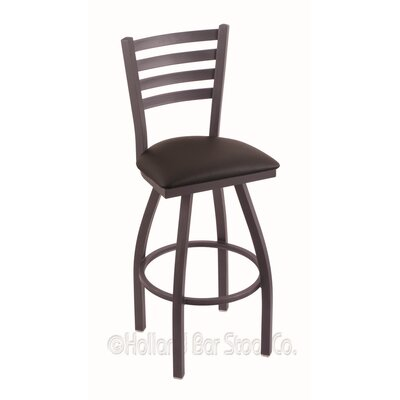 Jackie 36 Swivel Bar Stool Finish: Pewter, Upholstery: Allante Espresso