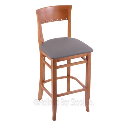 30 Bar Stool Finish: Medium, Upholstery: Allante Medium Grey