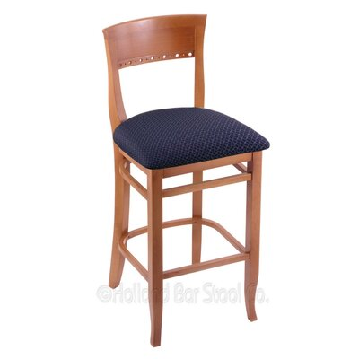 30 Bar Stool Finish: Medium, Upholstery: Axis Denim