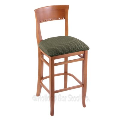 25 Bar Stool Finish: Medium, Upholstery: Axis Grove