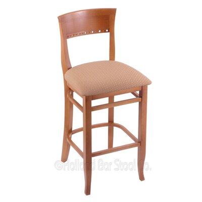 25 Bar Stool Finish: Medium, Upholstery: Axis Summer