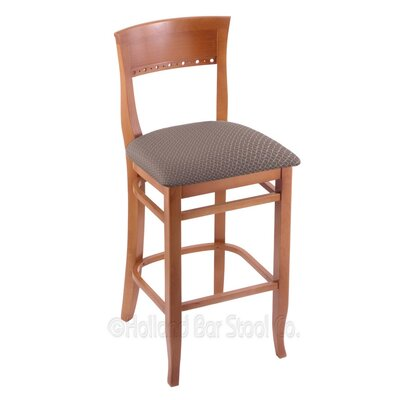 30 Bar Stool Upholstery: Axis Truffle, Finish: Medium