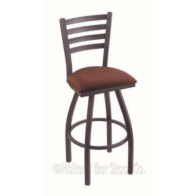 Jackie 36 Swivel Bar Stool Finish: Pewter, Upholstery: Axis Paprika