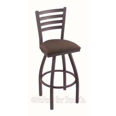 Jackie 25 Swivel Bar Stool Finish: Pewter, Upholstery: Axis Truffle