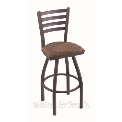 Jackie 30 Swivel Bar Stool Finish: Pewter, Upholstery: Axis Willow
