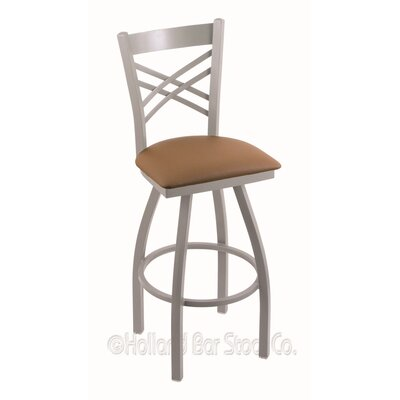 Catalina 36 Swivel Bar Stool Finish: Anodized Nickel, Upholstery: Allante Beechwood