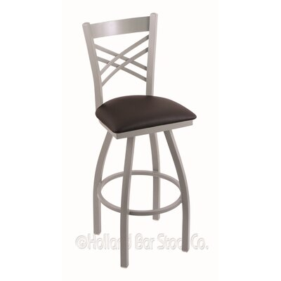 Catalina 36 Swivel Bar Stool Finish: Anodized Nickel, Upholstery: Allante Espresso