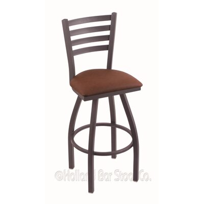 Jackie 36 Swivel Bar Stool Finish: Pewter, Upholstery: Rein Adobe