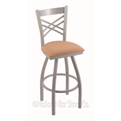 Catalina 30 Swivel Bar Stool Finish: Anodized Nickel, Upholstery: Axis Summer