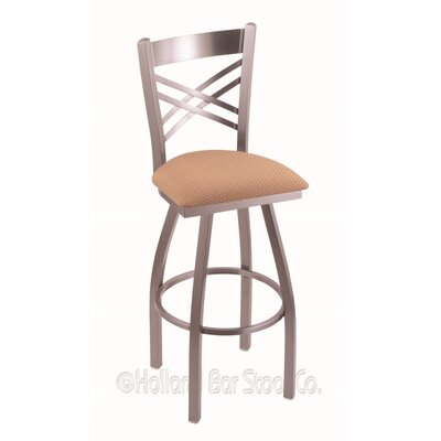 Catalina 25 Swivel Bar Stool Finish: Stainless, Upholstery: Axis Summer