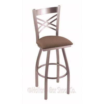 Catalina 25 Swivel Bar Stool Finish: Stainless, Upholstery: Axis Willow