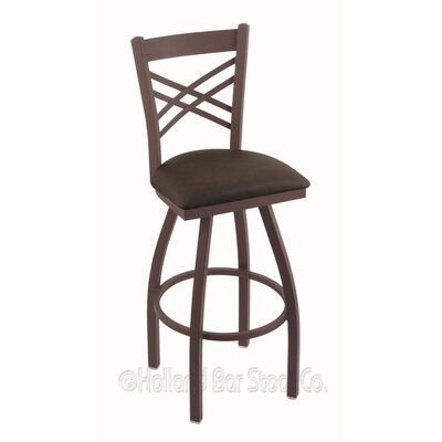 Catalina 36 Swivel Bar Stool Finish: Bronze, Upholstery: Rein Coffee
