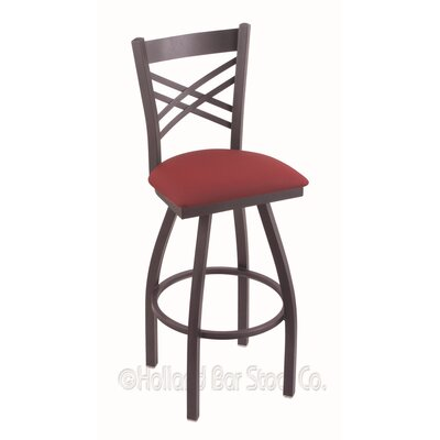 Catalina 36 Swivel Bar Stool Finish: Pewter, Upholstery: Allante Wine