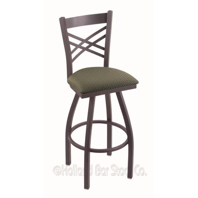 Catalina 36 Swivel Bar Stool Finish: Pewter, Upholstery: Axis Grove