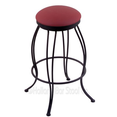 Georgian 25 Swivel Bar Stool Upholstery: Allante Wine