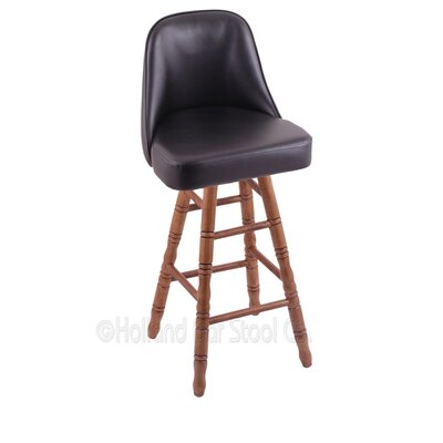 Grizzly 24 Swivel Bar Stool Base Finish: Medium Oak