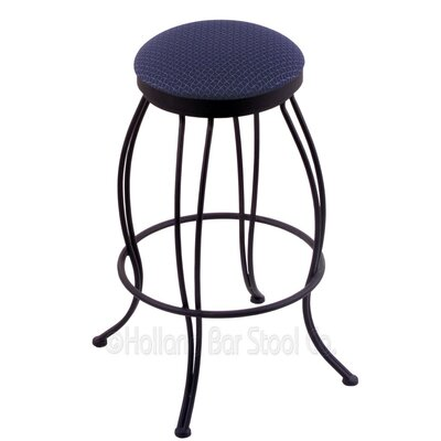 Georgian 25 Swivel Bar Stool Upholstery: Axis Denim