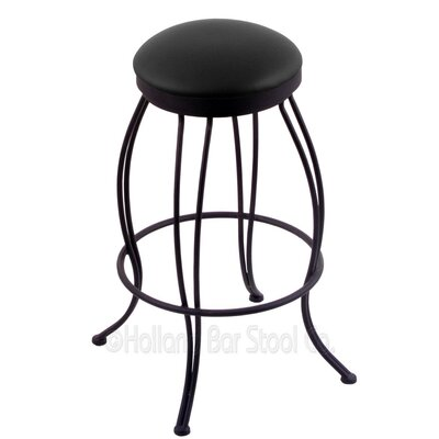 Georgian 30 Swivel Bar Stool Upholstery: Black Vinyl