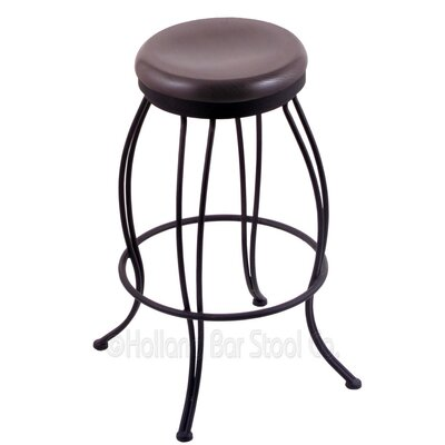 Georgian 25 Swivel Bar Stool Upholstery: Dark Cherry Oak