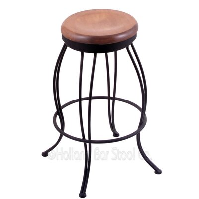 Georgian 25 Swivel Bar Stool Upholstery: Medium Maple