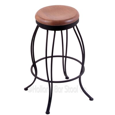 Georgian 30 Swivel Bar Stool Upholstery: Medium Oak