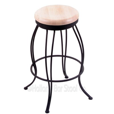 Georgian 25 Swivel Bar Stool Upholstery: Natural Maple