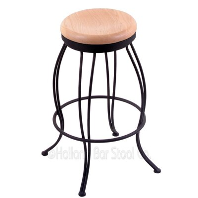 Georgian 30 Swivel Bar Stool Upholstery: Natural Oak