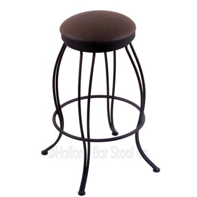Georgian 25 Swivel Bar Stool Upholstery: Rein Coffee