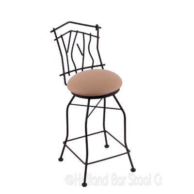 Aspen 25 Swivel Bar Stool Upholstery: Allante Beechwood