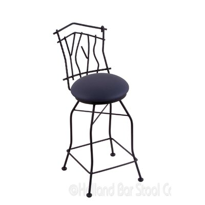 Aspen 25 Swivel Bar Stool Upholstery: Allante Dark Blue