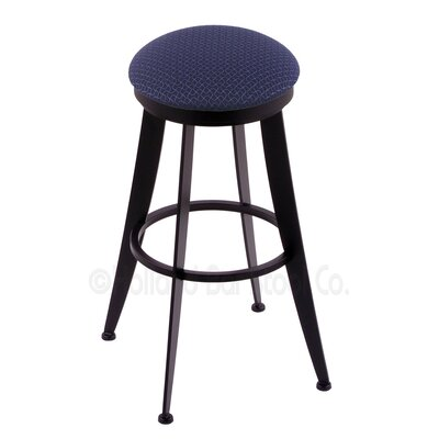 Laser 30 inch Swivel Bar Stool Upholstery: Axis Denim