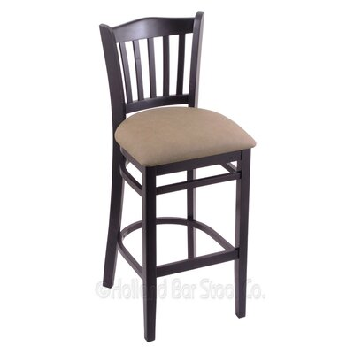 30 Bar Stool Finish: Black, Upholstery: Rein Thatch