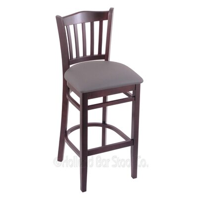 30 Bar Stool Finish: Dark Cherry, Upholstery: Allante Medium Grey