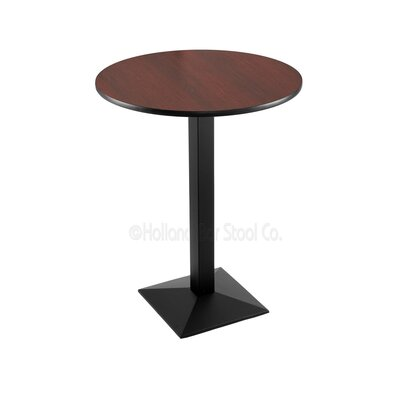 30 Pub Table Tabletop Size: 30 Dia, Finish: Black