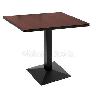 30 Pub Table Tabletop Size: 30 x 30, Finish: Black