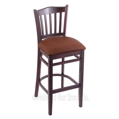 30 Bar Stool Finish: Dark Cherry, Upholstery: Rein Adobe